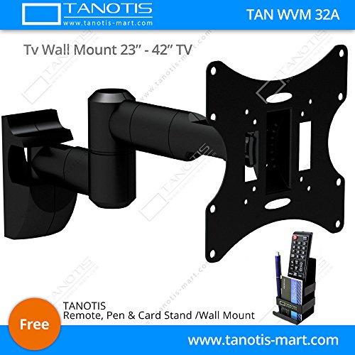 Tanotis Imported 6 Way Swivel Tilt TV Wall mount for LCD/LED TV's upto 23