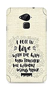 Amez I fell in Love with You Back Cover For Coolpad Note 3