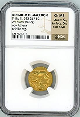 Kingdom of Macedon, Philip III Gold Stater CH MS NGC