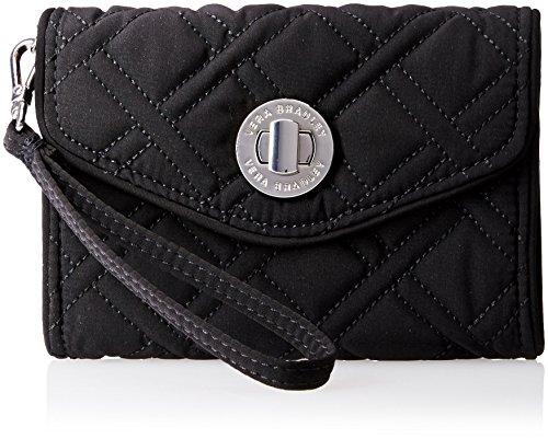 Vera Bradley Your Turn Smartphone Wristlet 2 Wallet, Classic Black, One Size