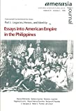 img - for Essays Into American Empire in the Philippine (Part Ii- Culture, Community, and Capital; Amerasia Journal; Vol. 24, 1998) book / textbook / text book