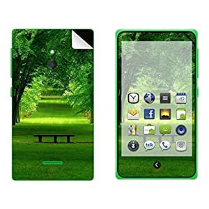 Skintice Designer Mobile Skin Sticker for Nokia XL, Design - Green tree
