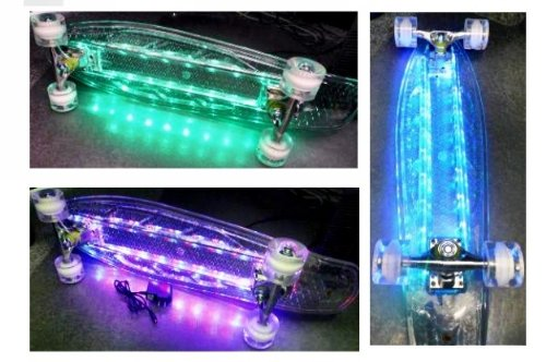 Led Kicktail Skateboard Complete