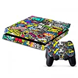 258stickers® Playstation 4 Skin & Remote Controllers - Graffiti Stickers