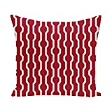 E By Design PHGN276R1-16 Nuts & Bolts Decorative Holiday Geometric Print Pillow, 16