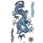 King Horse Blue Dragon Tattoos Wasser...