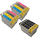 T 715 X 2 MULTIPACK + T 711 X 4 - EPSON COMPATIBLE Ink Cartridges for Epson Stylus D120, D78, D92, DX400, DX4000, DX4050, DX4400, DX4450, DX5000, DX5050, DX6000, DX6050, DX7000, DX7400, DX7450, DX8400, DX8450, DX 9400F, S20, S21, SX100, SX105, SX110, SX115, SX200, SX205, SX209, SX210, SX215, SX400, SX405, SX410, SX415, SX515W, SX600F, BX300F, BX310FN, BX600FW Printers - Latest Version Double Capacity Inks -***By TriINKs***