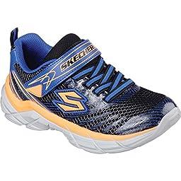 Skechers Boys\' Rive Sneaker,Black/Blue/Orange,US 11.5 M