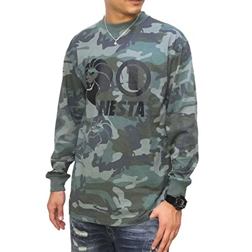 (ネスタブランド)Nesta Brand ロンT ロングTシャツ メンズ 長袖 迷彩柄 LS1501F カモ XL 大きいサイズ b系ファッション レゲエ