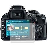 6 x Membrane Films de protection d'écran pour Nikon D3100 Digital SLR (DSLR) - Ultra clair (Invisible), Résistant aux éraflures, Emballage d'origine et accessoires