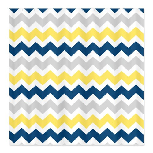 Yellow Blue Grey Chevron Stripes