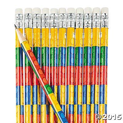 Fun-Express-Colored-Block-Brick-Party-Favor-Pencils-24-Piece-Pack