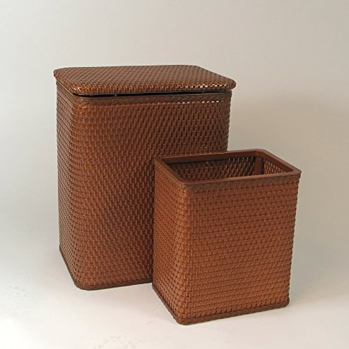 RedmonUSA Redmon for Kids Chelsea Wicker Nursery Hamper and Matching Wastebasket, Nutmeg