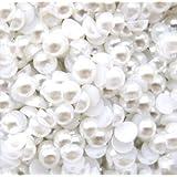 1000 pcs 3mm White Flat back Pearl Cabochons by Lovekitty
