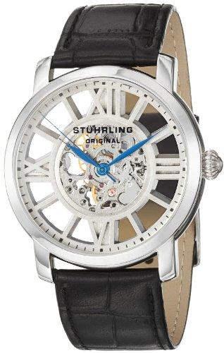 Stuhrling Original Men's 280.33152 Lifestyles Winchester Terrace Mechanical Skeleton Silvertone Watch