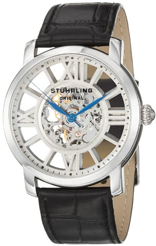 Stuhrling Original Men's 280.33152 Lifestyles Winchester Terrace Mechanical Skeleton Silvertone Watch