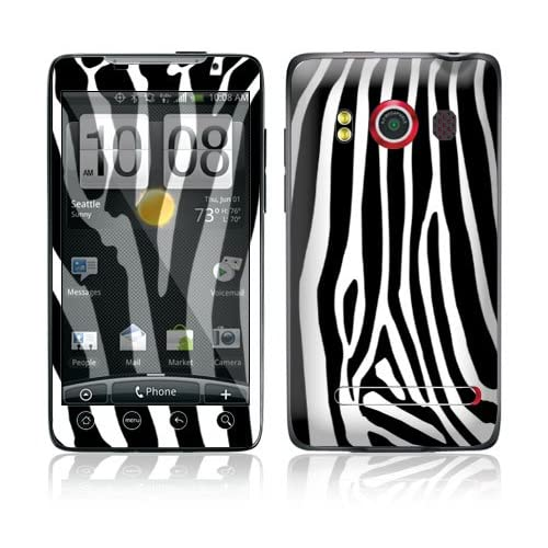 Zebra Print Protective Skin Cover Decal Sticker for HTC Evo 4G (Sprint) Cell Phone