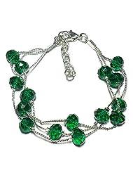 Beadworks Crystal Beads Teal Beaded Bracelet