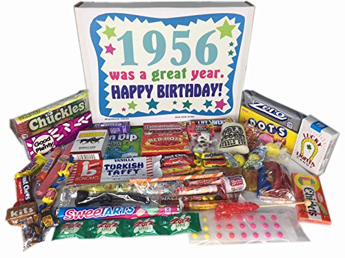 1956 60th Birthday Gift Basket Box Retro Nostalgic Candy