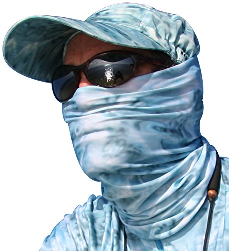 Aqua design fishing sun mask camo multipurpose face wind for Fish head mask