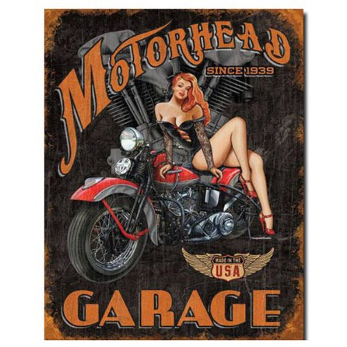 Legends - Motorhead Garage Tin Sign , 12x16