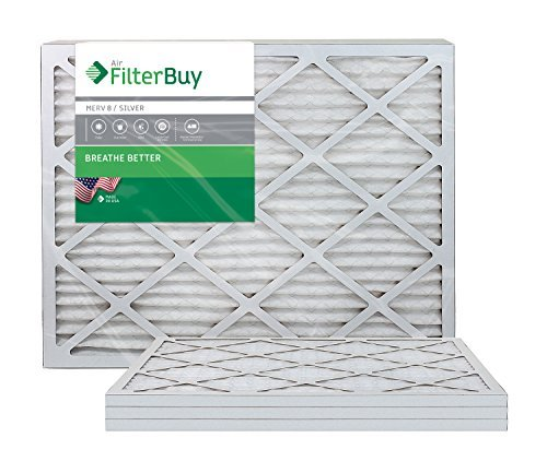 AFB Silver MERV 8 20x34x1 Pleated AC Furnace Air Filter. Pack of 4 Filters. 100% produced in the USA. Size: 20x34x1, Model: AFB20x34x1M8pk4, Outdoor & Hardware Store