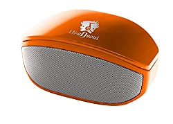 Life N Soul BM208-O Bluetooth Stereo Speaker w/3.5mm Auxiliary Port (Orange)
