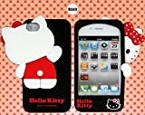 Premium Hello Kitty Silicone Case for iPhone 4/4S - Black