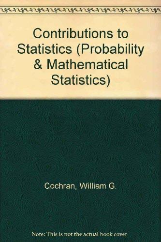 Contributions to Statistics (Probability & Mathematical Statistics)