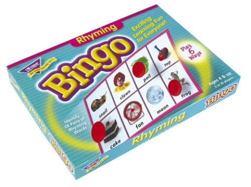 Trend Enterprises Rhyming Bingo Game front-67425