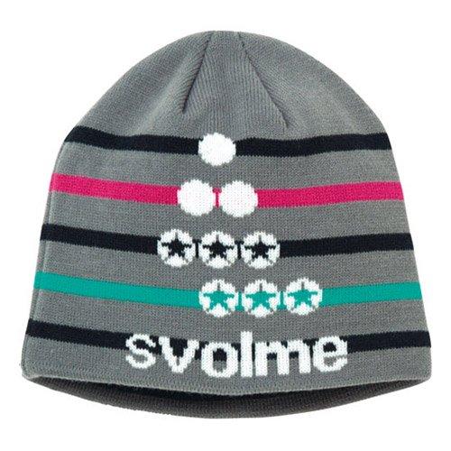 SVOLME(スボルメ)ボーダーロゴビーニー サッカー フットサル キャップ 帽子 グレー 153-56121 020GRAY F