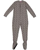 Leopard Plush Footed Pajamas for Juniors