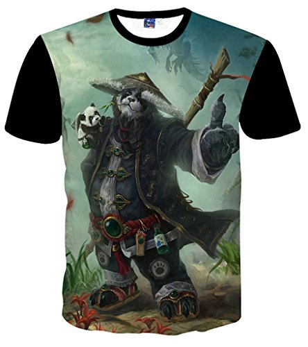 pizoff-men-t-shirts-with-short-sleeves-animations-panda-hero-fun-3d-print-hip-hop-convenient-unisex-