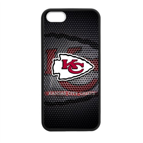 Design Unique NFL Kansas City Chiefs Apple Iphone 5S/5 Case Cover TPU Laser Technology Slim Stylish Amazon.com