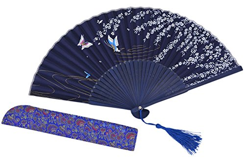 Amajiji® Chinese Vintage Retro Style Handheld Folding Fan (ZJ-01)