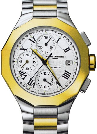 Baume and Mercier Riviera 18kt Gold Two-Tone Mens Watch 8624 [Watch] Baume et...