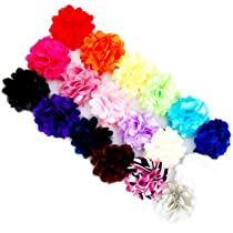Ema Jane - Mini Mesh Satin Hair Flower Clips (18 Pack)