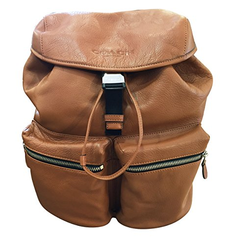 Coach Rucksack Smooth Leather Backpack (Saddle)