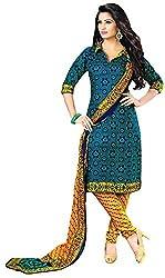 Shivani Women's Cotton Dress Material (Blue)