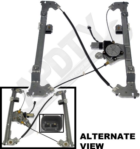 APDTY 852079 Power Window Motor Regulator Assembly Fits Rear Left (Driver-Side) 2004-2008 Ford F150 Crew Cab Pickup 2006-2008 Lincoln LT Crew Cab Pickup (Replaces Ford 6L3Z1627001AA, WLRA43) (2005 F150 Window Regulator compare prices)