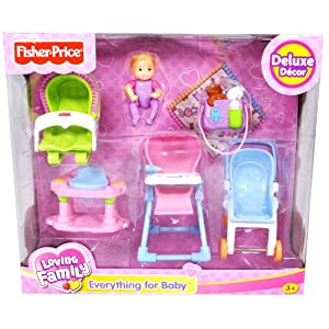 Youu0027re Want To Buy Fisher Price Loving Family Dollhouse Deluxe Decor  Furniture Accessory Set   EVERYTHING FOR BABY With Stroller, High Chair,  4 Leg Bouncer, ...