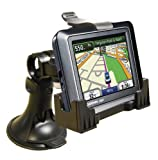 3-in-1 GPS Car Mount for the Garmin Nuvi 205, 205W, 255, 255W, 265T, 265WT, 275T, 295W, - 3-Way Adjustable Angle for Optimal View - Includes Window Suction Mount, Dashboard Mount and Vent Clips