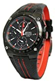 Seiko SNA595P2 Black Sportura Alarm Chronograph watch