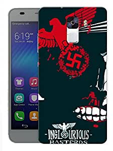 """Humor Gang Inglorious Bastards Printed Designer Mobile Back Cover For """"Huawei Honor 7"""" (3D, Matte, Premium Quality Snap On Case)"""