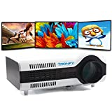 Tronfy® TP-2+ Portable 50-100 1500 Lumens LED Multimedia SVGA Projector LCD HD (800 x 600) Home Theatre Cinema TXT for wii PS3 PS4 PC Laptop Xbox with HDMI (1.4v 1.5m Cable) / VGA/ AV-In/ Standard USB/ S-video TV