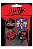 サブカル『Punk《パンク》』缶バッジ4個セット/エンタメグッズ