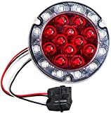 Maxxima (M85416R) Red/White Round Rear LED Stop/Tail/Turn/Back-Up Light