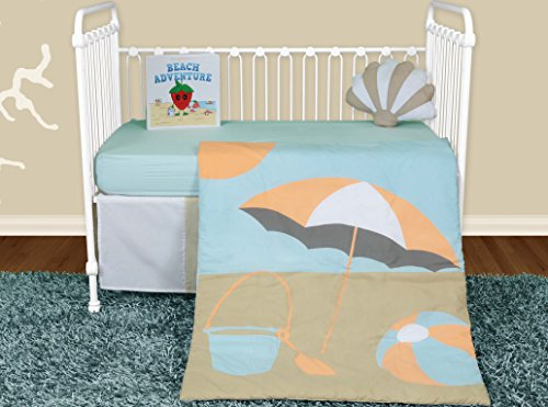 Snuggleberry Baby Crib Bedding Collection, Sun And Sand, 5 Count