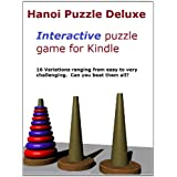 Hanoi Puzzle Deluxe for Kindle (16 Interactive Puzzles Variations) ~ K. Lenart