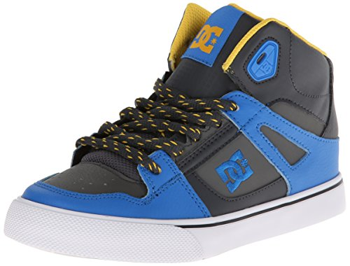 Dc Spartan High High Top Sneaker (Little Kid/Big Kid),Armor/Battleship/Yellow,12.5 M Us Little Kid